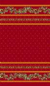 Olive Blossom Tablecloth Rectangular Coated 300cm Red